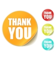 thank you sticker vector image vector image