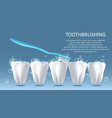 toothbrushing medical poster banner design vector image vector image