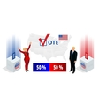 Us Election 2016 infographic Democrat Republican vector image