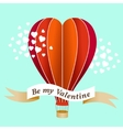 Valentines day air balloon vector image