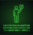 voter neon light icon vector image