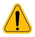 Warning icons in yellow triangle Exclamation vector image