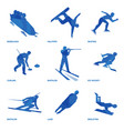 winter sports icon set 1 vector image