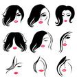Woman hair vector image