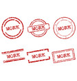 work stamps vector image vector image