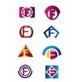 Set of letter F logo Branding Identity Corporate v vector image