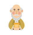 cartoon portrait wise king with gift vector image