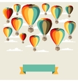 Background of hot air balloons and clouds vector image