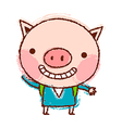 A piggy is standing vector image vector image