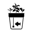 aqua farm vector image vector image