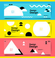 Banner template design coloful modern background