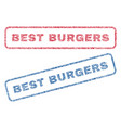 best burgers textile stamps vector image vector image