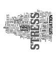 best ways to relieve stress it kills text word vector image vector image