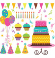 Birthday Celebration Elements vector image