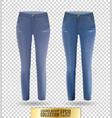 blank leggings mockup set blue and denim on vector image
