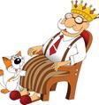 Cartoon grandfather vector image vector image