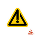 caution warning line style orange sign vector image