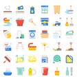 cleaning and laundry service and equipment flat vector image