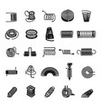 coil spring icon set simple style vector image vector image