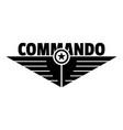 commando logo simple style vector image vector image