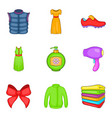 consumer boom icons set cartoon style vector image vector image