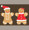 cookies couple made gingerbread dough vector image vector image
