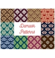 Damask floral seamless patterns set vector image vector image