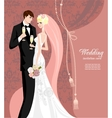 Elegant pink wedding vector image vector image