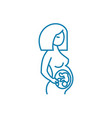examination of pregnant women linear icon concept vector image