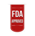fda approved banner design vector image vector image