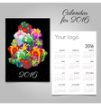 Festive calendar with a mountain of gift boxes vector image vector image