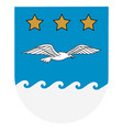 flag jurmala city latvia illustration vector image vector image