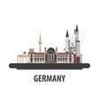 germany travel location vacation or trip and vector image
