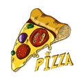 Hand drawing pizza vector image vector image