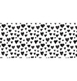 hand-drawn doodle pattern with hearts banner vector image vector image