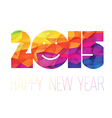 happy new year 2015 greeting colorful vector image