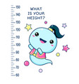 height chart with cute genie vector image vector image