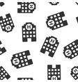 hospital building icon seamless pattern vector image vector image