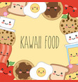 kawaii cartoon concept vector image vector image