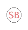 letter sb fashion jewelry vector image vector image