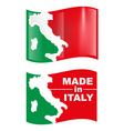 made in italy flag vector image vector image