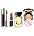 makeup cosmetics set vector image vector image