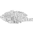 meal word cloud concept vector image vector image