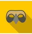 Mens Venetian mask icon flat style vector image vector image