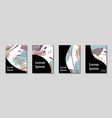 minimal artistic painted design set vector image vector image