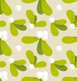 mistletoe pattern vector image vector image