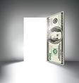 Money Door vector image vector image
