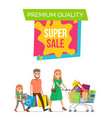 premium quality super banner vector image