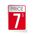 Price Tag sticker - Seven usd vector image vector image