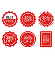 Sale stickers collection set promotional